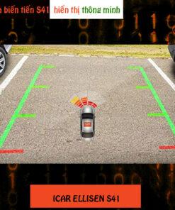 Cảm biến va chạm tiến 4 mắt thường, hiển thị trên màn hình Android ô tô