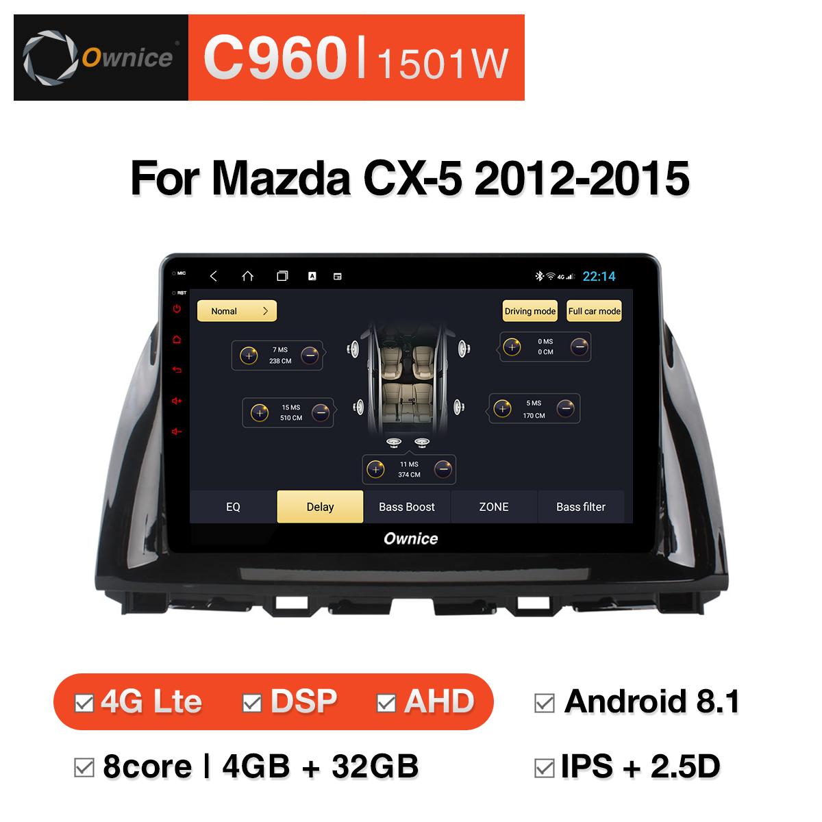 Đầu DVD android Ownice C960 cho xe ô tô Mazda CX-5 2012-2015:: OL-1501W