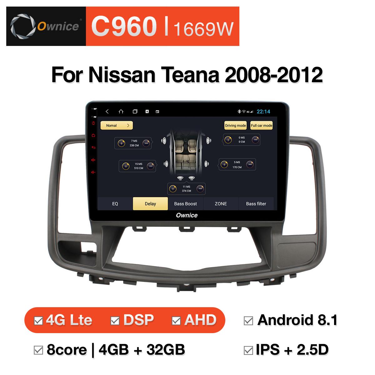 Đầu DVD android Ownice C960 cho xe ô tô Nissan Teana 2008-2012:: OL-1669W