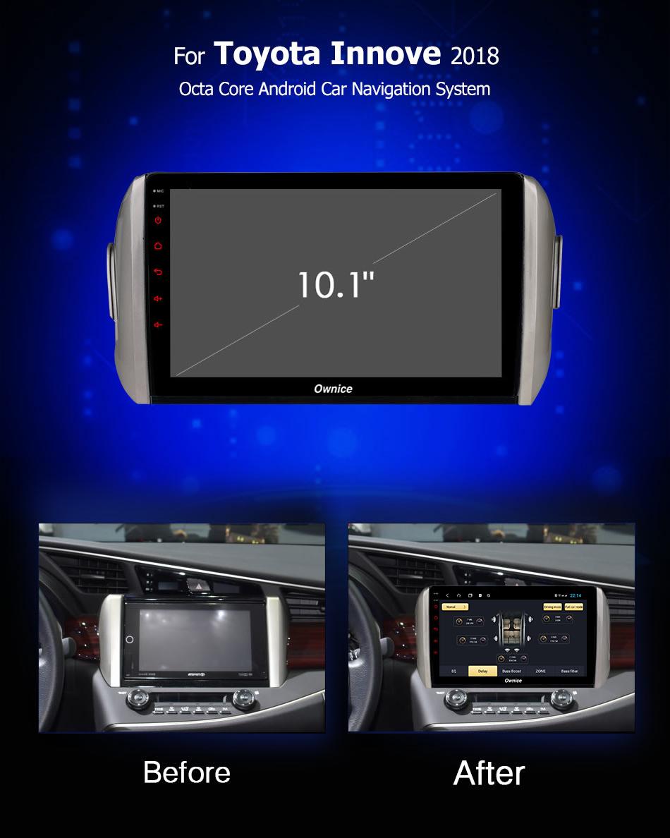 Đầu DVD android Ownice C960 cho xe ô tô Toyota Innova 2018