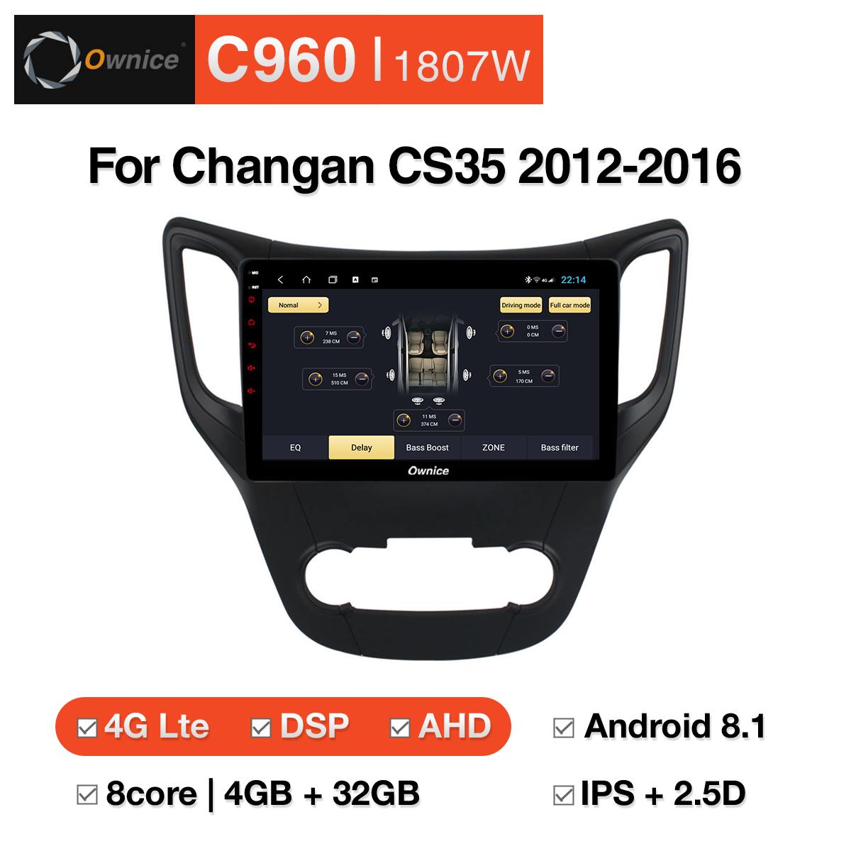 Đầu DVD android Ownice C960 cho xe ô tô Changan CS35 2012 - 2016