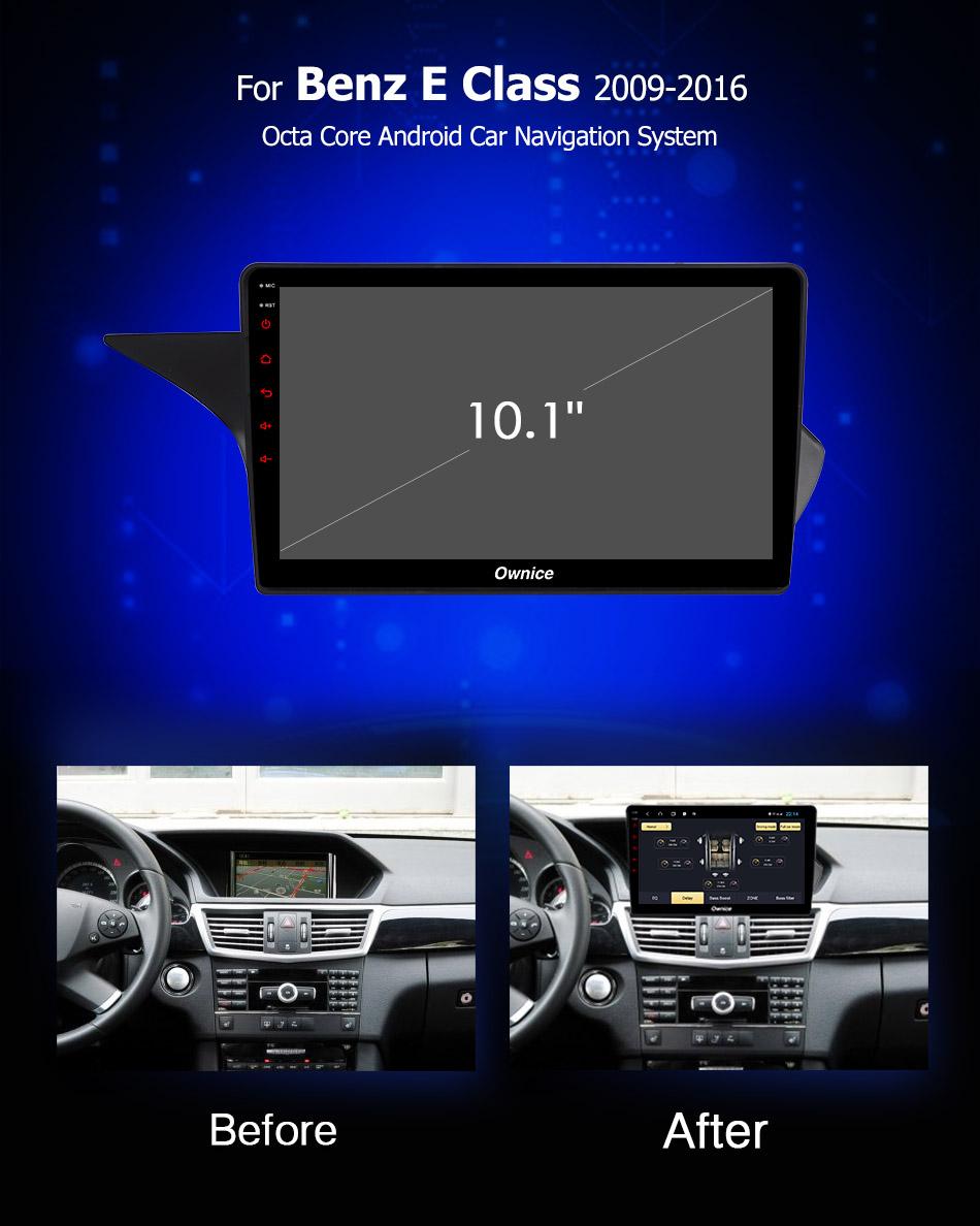 Đầu DVD android Ownice C960 cho xe ô tô Benz E Class 2009 - 2016