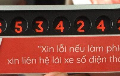Bảng số điện thoại ô tô KR1