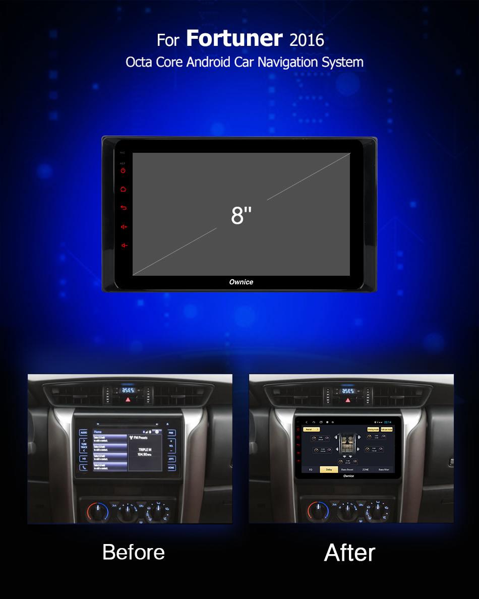 Đầu DVD android Ownice C960 cho xe ô tô Toyota Fotuner 2016