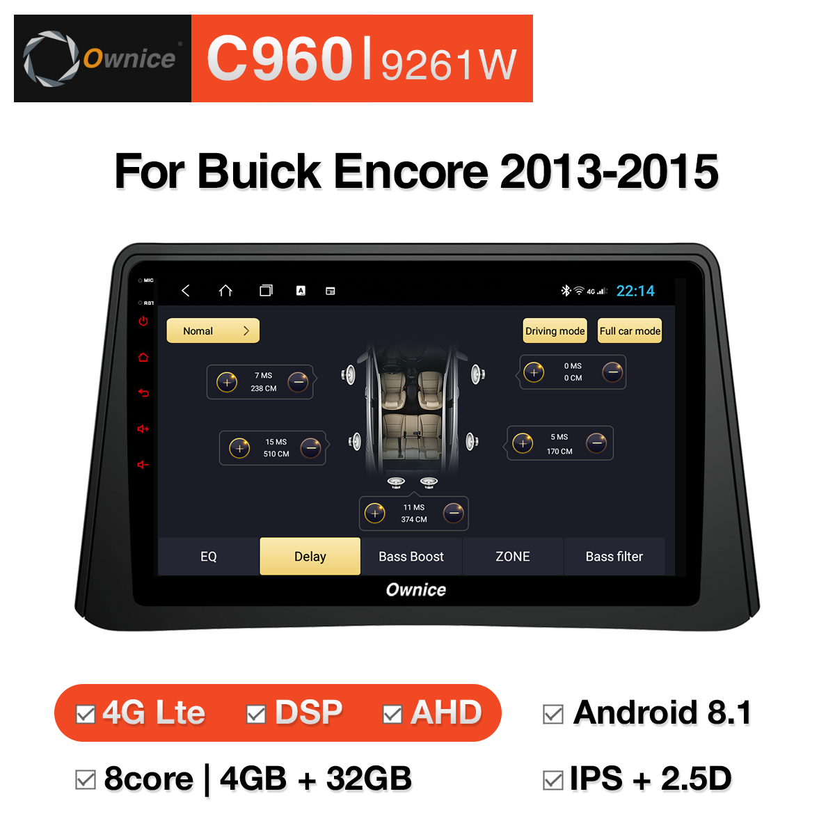 Đầu DVD android Ownice C960 cho xe ô tô Buick Encore 2013 - 2015:: OL-9261W