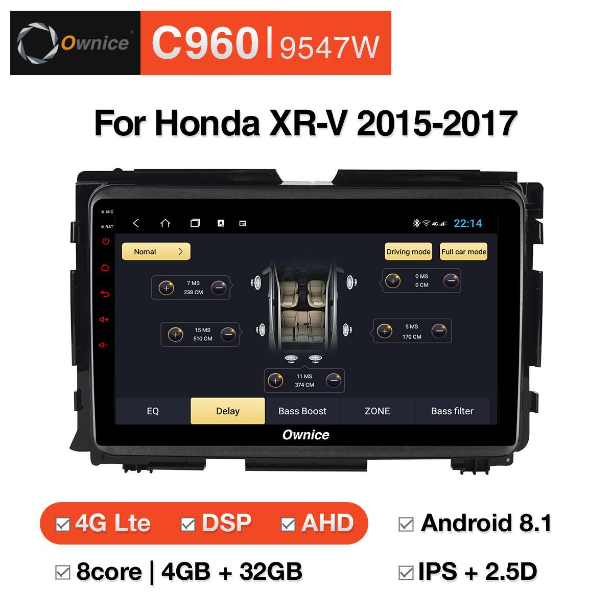 Đầu DVD android Ownice C960 cho xe ô tô Honda XR-V 2015-2017