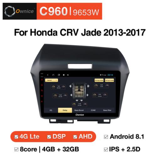 Đầu DVD android Ownice C960 cho xe ô tô Honda Fit 2004-2007:: OL-9658W