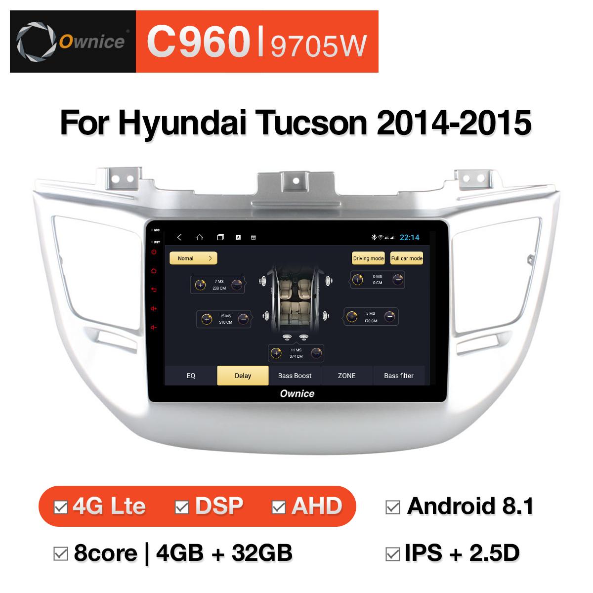 Đầu DVD android Ownice C960 cho xe ô tô Hyundai Tucson 2014-2015:: OL-9705W