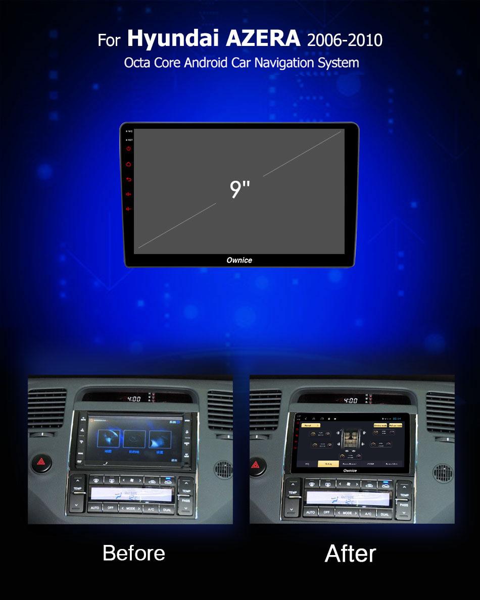 Đầu DVD android Ownice C960 cho xe ô tô Hyundai Azera 2006-2010