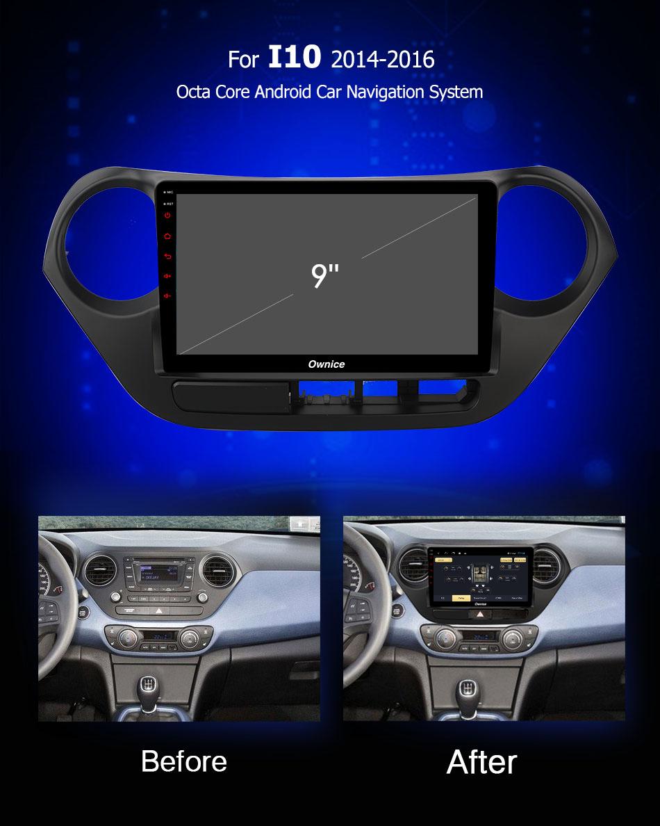 Đầu DVD android Ownice C960 cho xe ô tô Hyundai I10 2014-2016