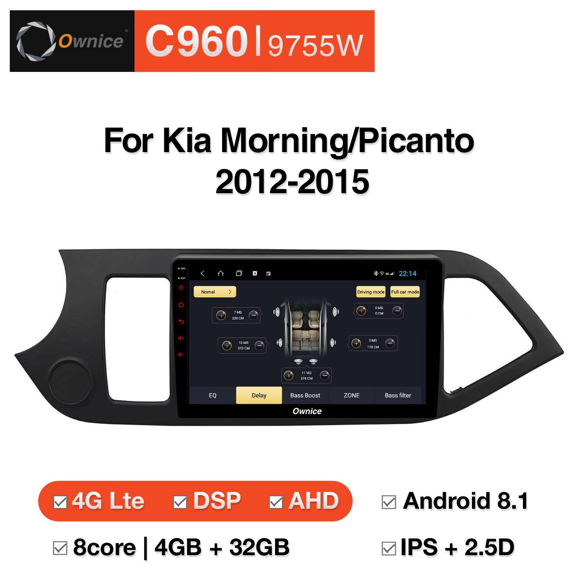Đầu DVD android Ownice C960 cho xe ô tô KIA Morning/Picanto 2012-2015:: OL-9755W