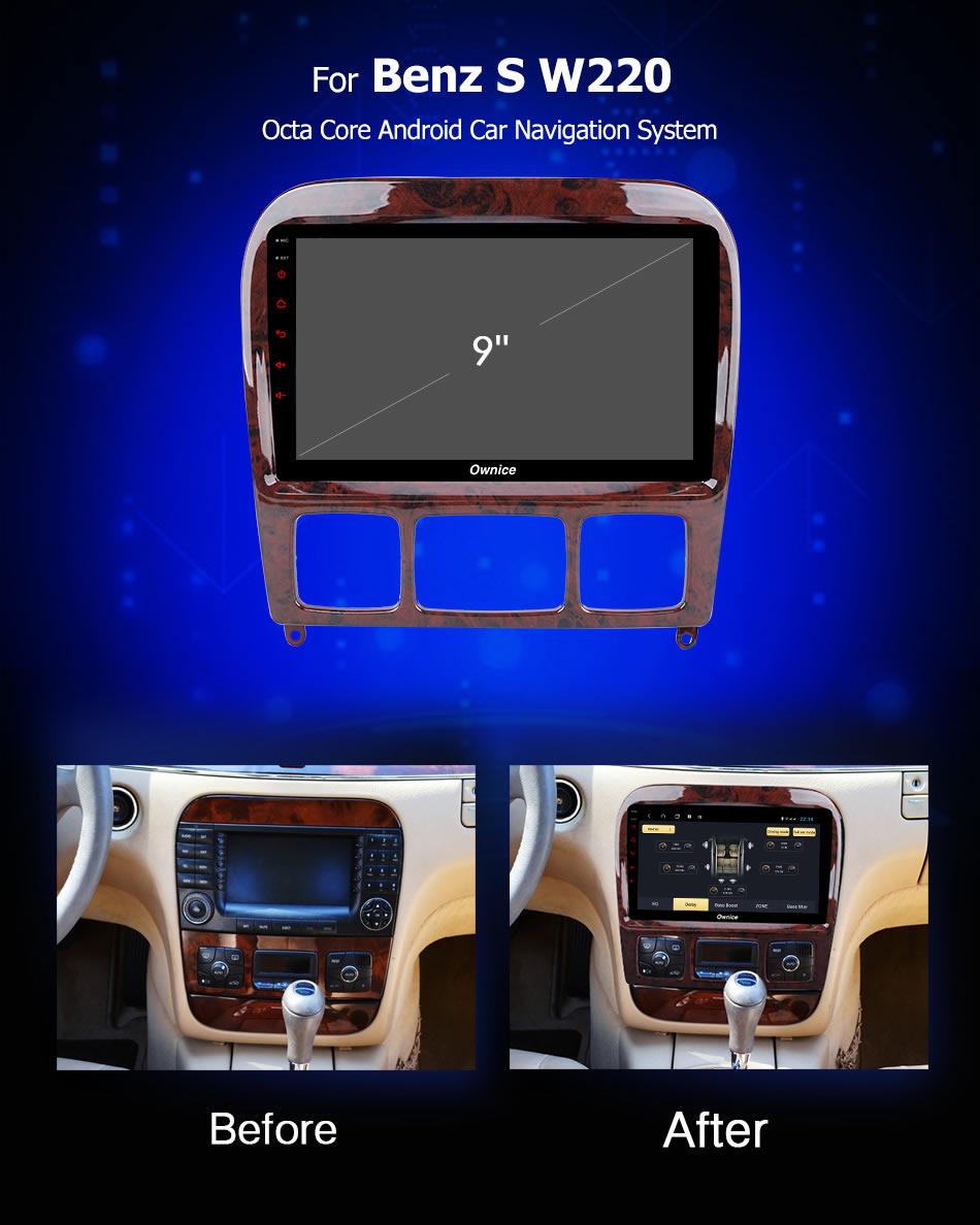 Đầu DVD android Ownice C960 cho xe ô tô Benz S W220