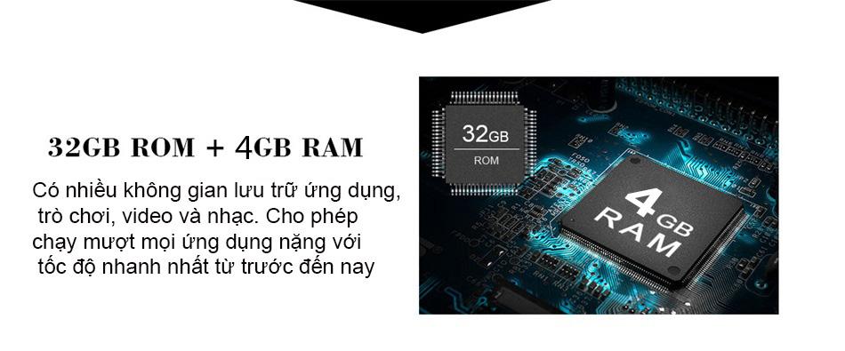 Đầu android C960 Ram khủng 4GB, ROM 32GB
