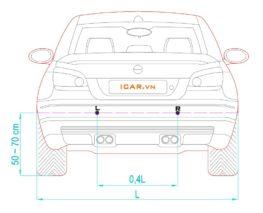 Cách lắp đặt 2 mắt cảm biến phía trước xe ô tô