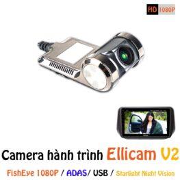 Camera hành trình ô tô ELLICAM V2 chất lượng full HD 1080p kiểu FishEye của Sony công nghệ Starlight Night Vision