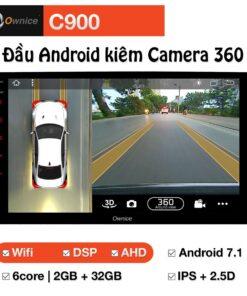 Đầu DVD Android ô tô Ownice C900 tích hợp Camera 360 độ