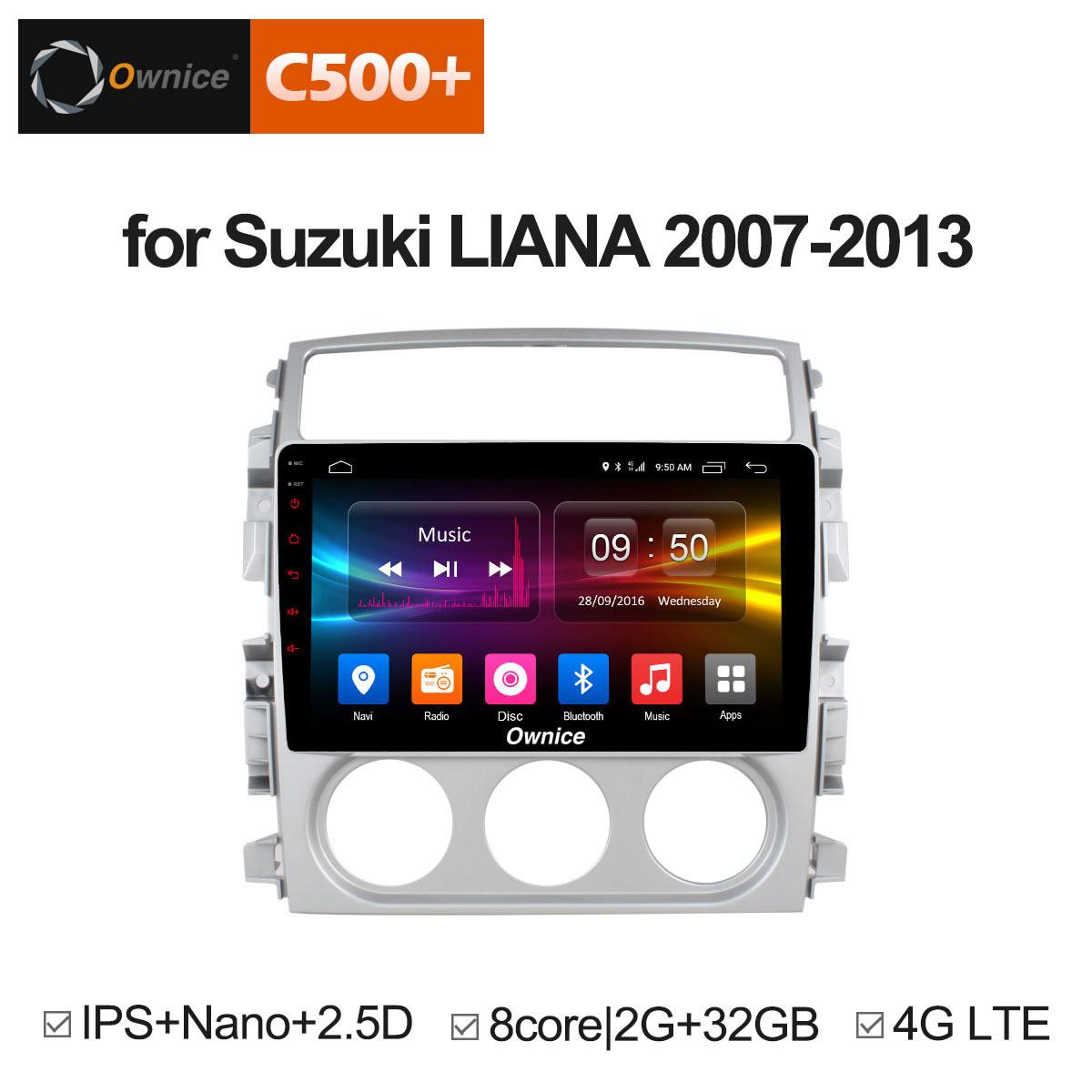 Đầu android C500+ theo xe Suzuki LIANA 2007 - 2013 :: OL-9623P