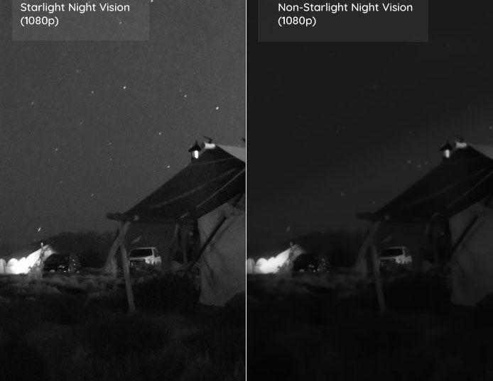 So sánh sự khác biệt công nghệ Starlight Night Vision với hồng ngoại IR