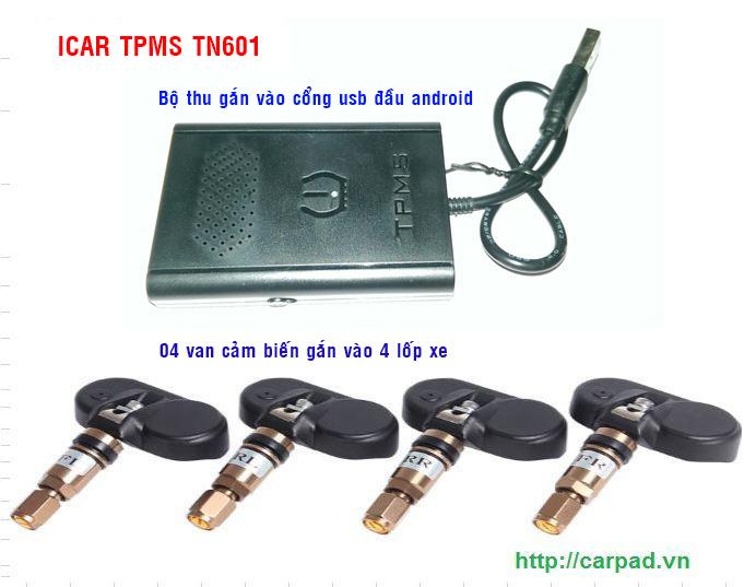 Cảm biến áp suất lốp kết nối USB iCar TN601