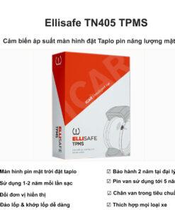 Cảm biến áp suất lốp màn hình đặt taplo chạy pin năng lượng mặt trời Ellisafe TN405