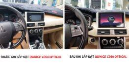 Không gian nội thất chiếc xe Mitsubishi Xpander thay đổi hoàn toàn sau khi lắp đặt Đầu DVD Android Ownice C960 Optical