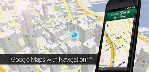 Phần mềm thích hợp hiển thị trên màn hình dẫn đường ô tô: Google Map