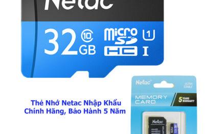 Thẻ nhớ dung lượng cao SDHC Class10 32GB NETAC