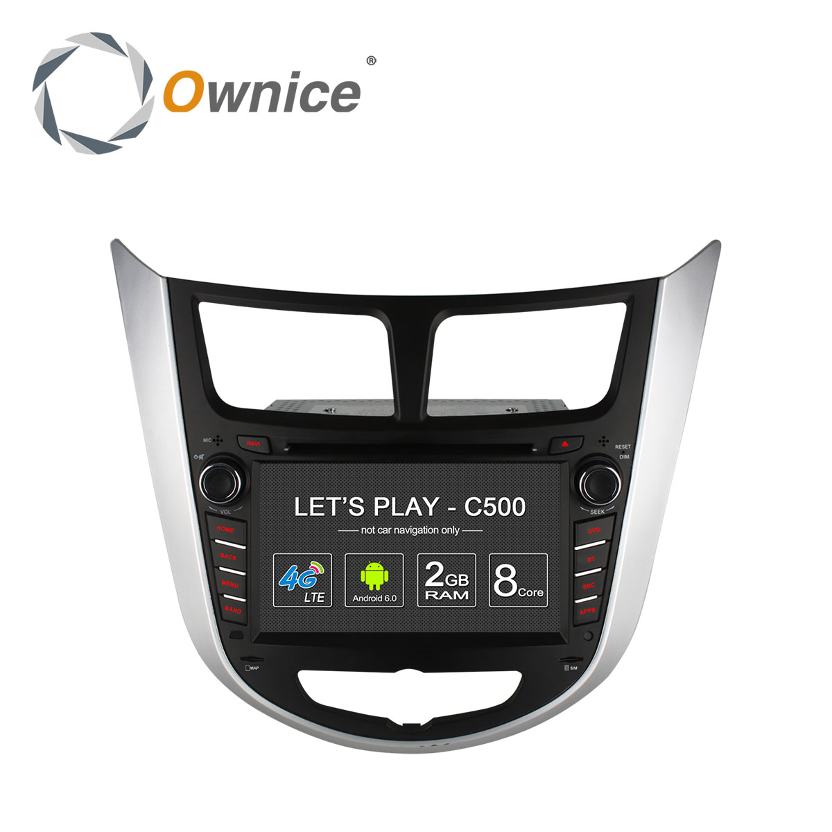 "Hyundai Verna, Accent, Solaris, i25 2011-2015 :: Màn 7"" :: Ownice C500 :: 32GB :: OL-7797G"