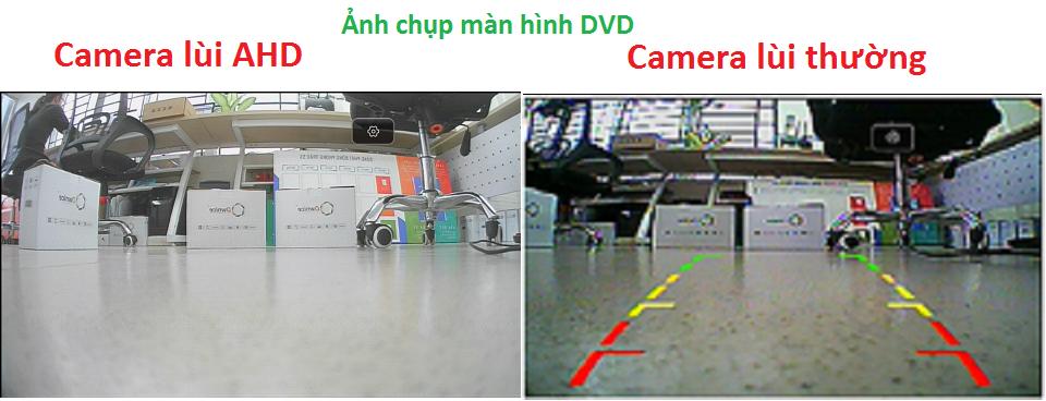Camera lùi AHD so với camera SD lắp lên đầu Android C960