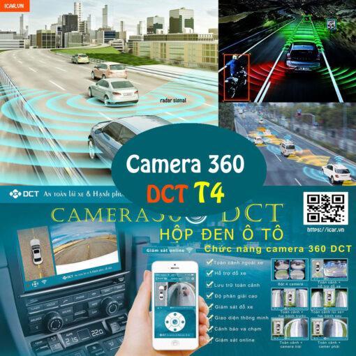 Camera hành trình 360 độ DCT phiên bản T4 tính năng cao cấp