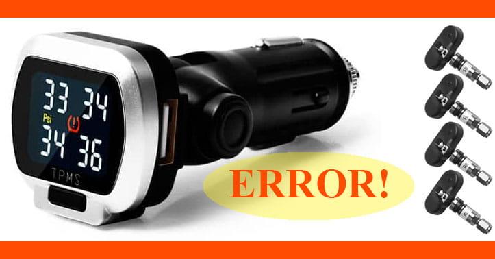 Cảm biến áp suất lốp bị lỗi (TPMS Error)