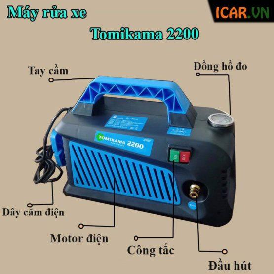 Cấu tạo máy rửa xe mini TOMIKAMA 2400 W