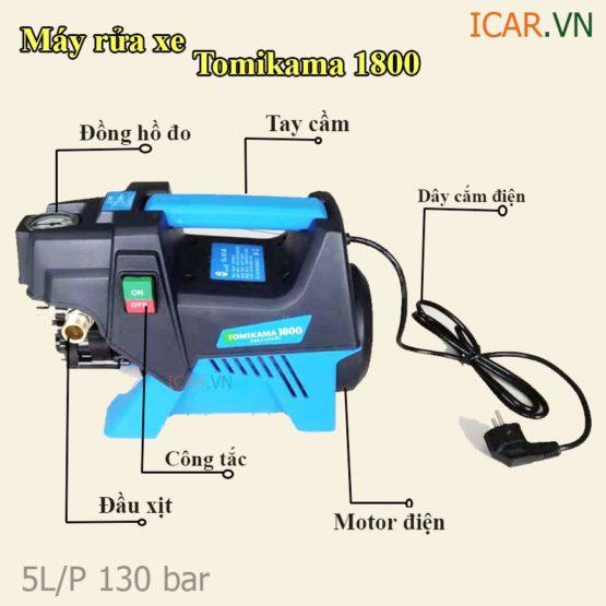 Máy rửa xe mini áp lực cao giá rẻ TOMIKAMA 1800 W tại Hà Nội tpHCM và Đà Nẵng