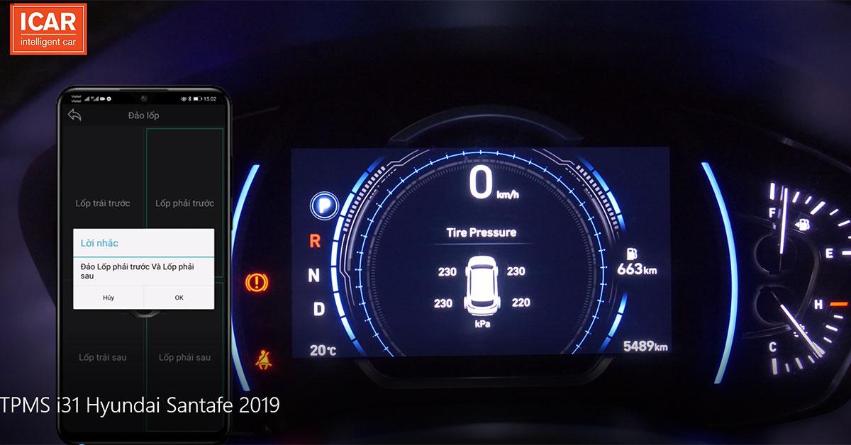 Cảm biến áp suất lốp kết nối điện thoại