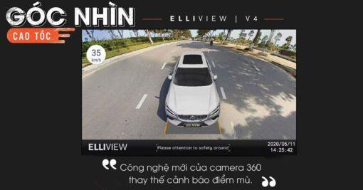 Khả năng thay thế cảm biến cảnh báo điểm mù bằng Camera 360 ELLIVIEW V4