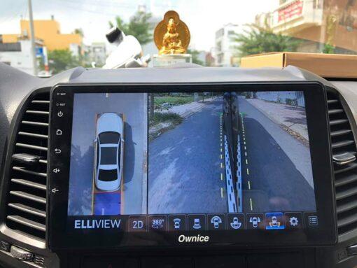 Lắp camera 360 Elliview V4 bản S và đầu Ownice C960 trên Santafe 2011