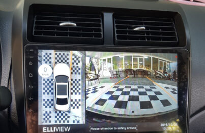 lắp camera 360 Elliview V4 và đầu Android Ownice C960 trên Toyota Wigo