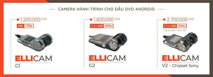 3 mẫu camera hành trình Android Ellicam