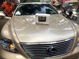 Camera 360 độ Elliview cho xe Lexus LS600H màn hình kiểu Tesla