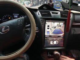 Camera 360 độ cho xe Lexus LS600H màn hình kiểu Tesla