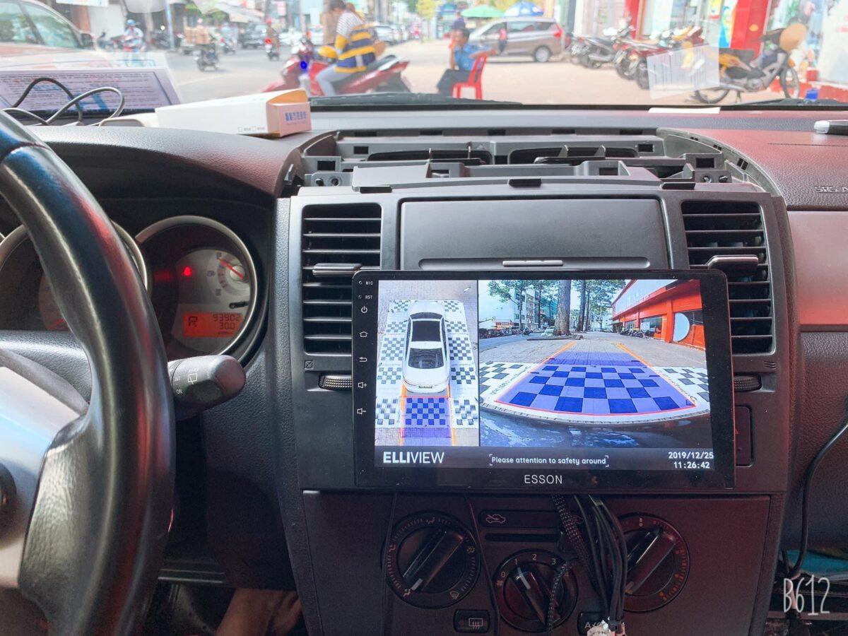 Camera 360 cho xe Nissan Tiida 2008