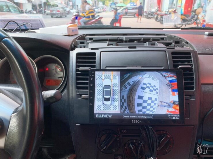 Camera 360 cho xe Nissan Tiida 2004