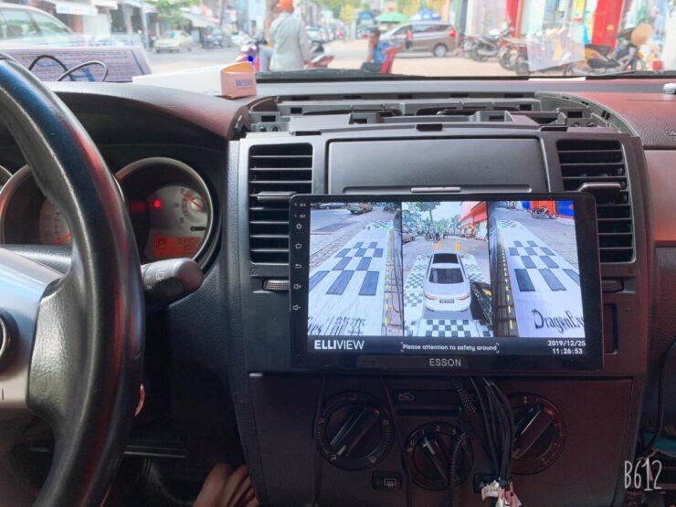 Camera 360 cho xe Nissan Tiida 2012