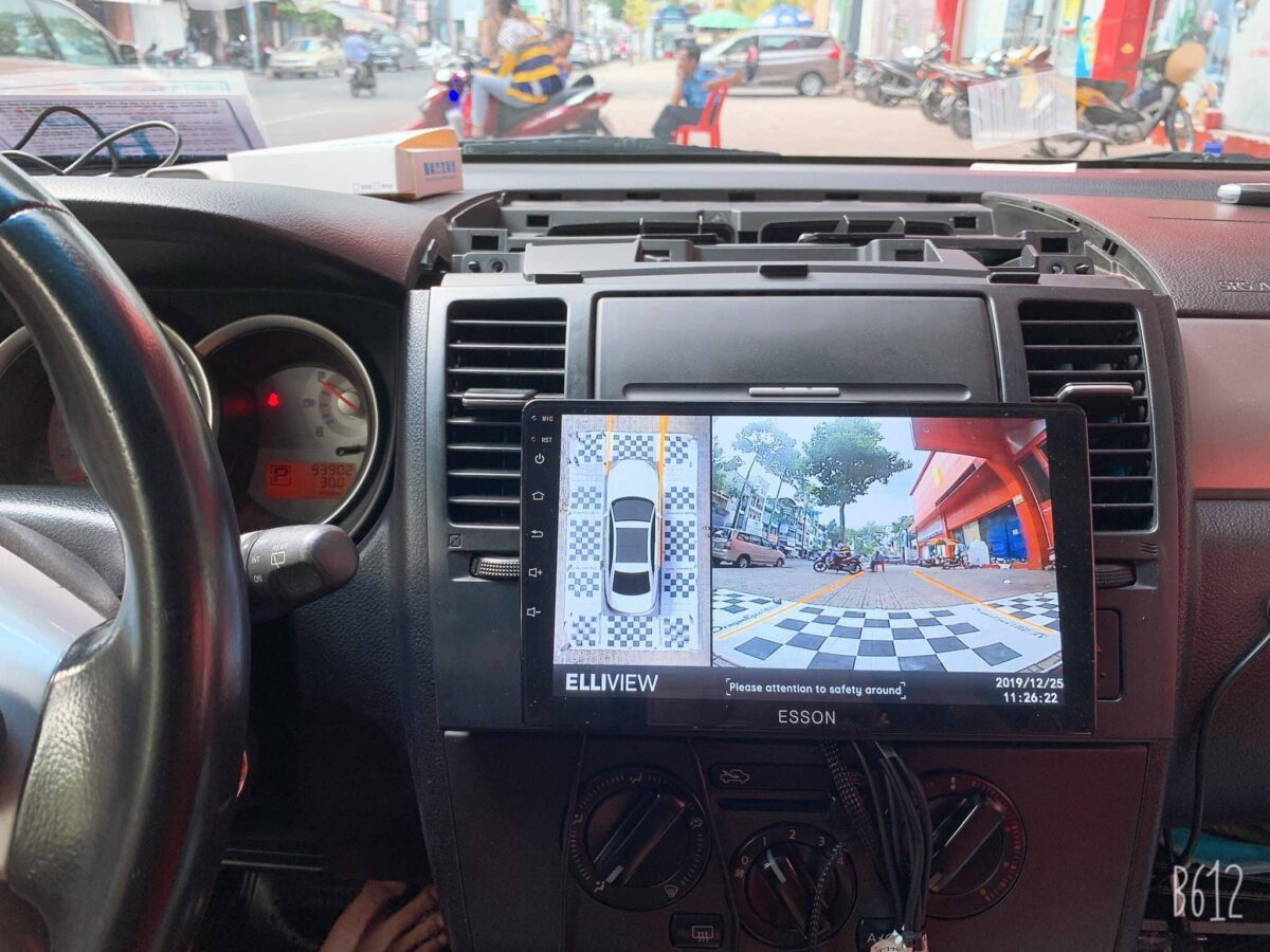 Camera 360 cho xe Nissan Tiida 2004-2012