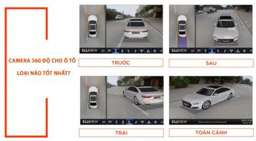 Chọn mua camera 360 độ cho ô tô loại nào tốt nhất?