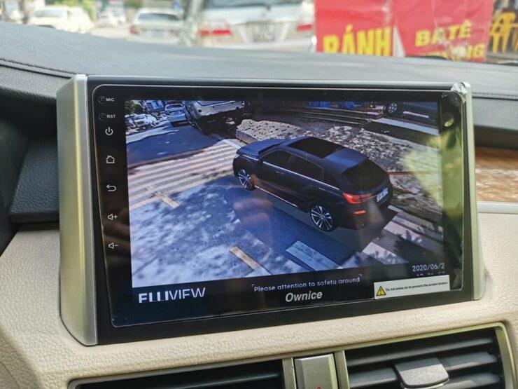 Camera 360 độ cho ô tô hiển thị biển số xe giống xe thật