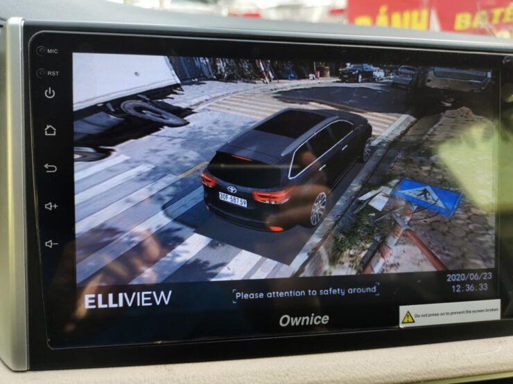 Camera 360 độ ô tô hiển thị biển số xe thật