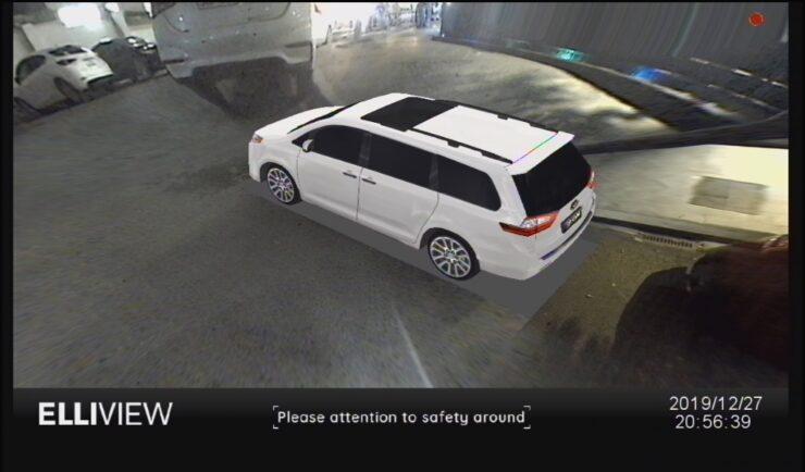 Mô hình xe Toyota SIENNA trên camera 360 Elliview (Góc trái)