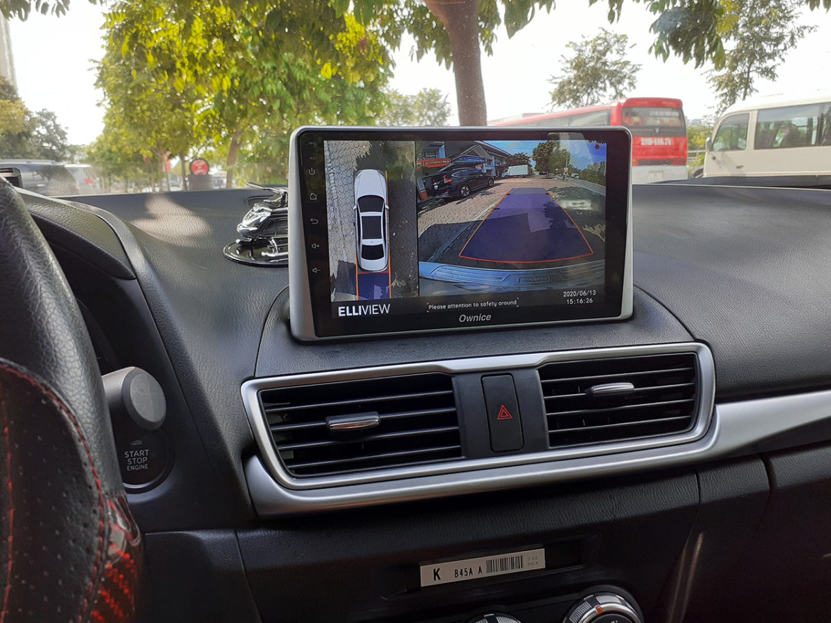 Lắp camera 360 độ Elliview V4 cho Mazda 3 tại Showroom ICAR Hà Nội