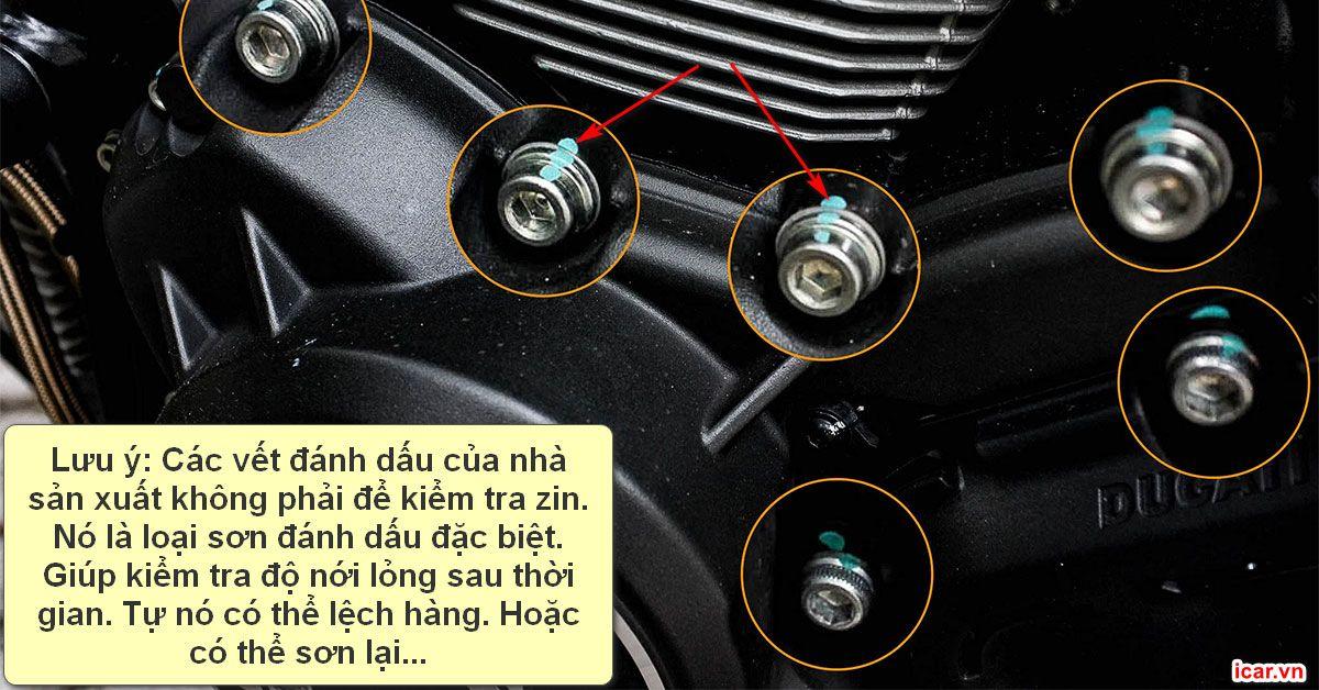 Vệt sơn đánh dấu của nhà sản xuất xe hơi trên ốc vít